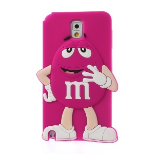 Rose Cute Happy M&Ms Chocolate Bean Soft Silicone Case for Samsung Galaxy Note 3 N9005 N9002 N9000
