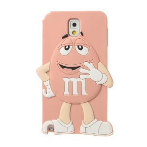 Pink Cute Happy M&Ms Chocolate Bean Silicone Case for Samsung Galaxy Note 3 N9005