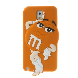 Orange for Samsung Galaxy Note 3 N9005 N9000 Cute Beauty M&Ms Bean Soft Silicone Skin Cover