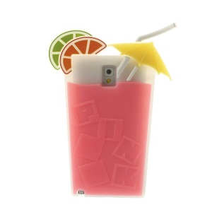 Rose 3D Cocktail Beverage Cup Soft Silicone Case for Samsung Galaxy Note 3 N9005