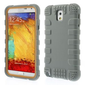 Anti-slip Protective Soft Silicone Cover for Samsung Galaxy Note 3 N9005 - Grey