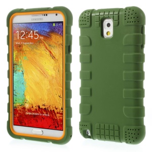 Anti-slip Protective Silicone Shell Case for Samsung Galaxy Note 3 N9005 - Green