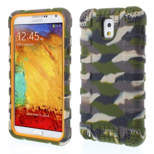 Anti-slip Soft Silicone Shell for Samsung Galaxy Note 3 N9000 - Camo Army Green