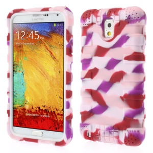 For Samsung Galaxy Note 3 N9000 Anti-slip Silicone Shell Protector - Camo Pink