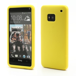 Rubberized Flexible Silicone Protetive Gel Case for HTC One M7 801e - Yellow