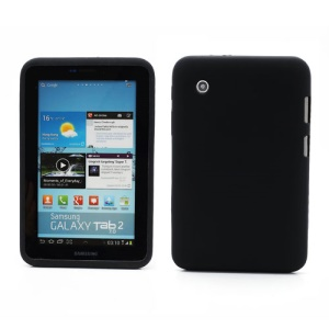 Flexible Silicone Jelly Skin Shell Case for Samsung Galaxy Tab 2 7.0 P3100 P3110 - Black