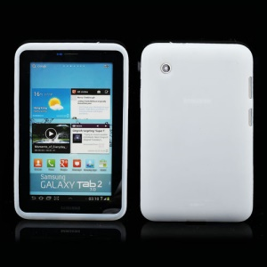Flexible Silicone Jelly Skin Shell Case for Samsung Galaxy Tab 2 7.0 P3100 P3110 - White