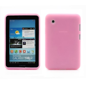 Flexible Silicone Jelly Skin Shell Case for Samsung Galaxy Tab 2 7.0 P3100 P3110 - Pink