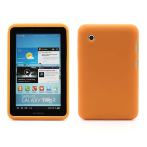Flexible Silicone Jelly Skin Shell Case for Samsung Galaxy Tab 2 7.0 P3100 P3110 - Orange