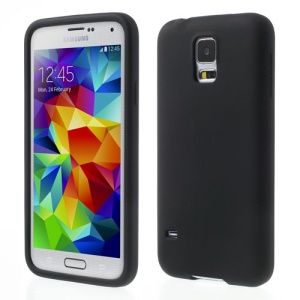 Black Rubberized Soft Silicone Case for Samsung Galaxy S5 G900 GS 5