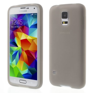 Grey Rubberized Flex Silicone Cover for Samsung Galaxy S5 G900 GS 5