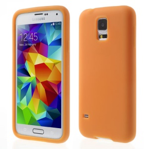 Orange Rubberized Silicone Skin Case for Samsung Galaxy S5 G900 GS 5