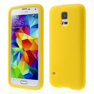 Yellow Rubberized Soft Silicon Case for Samsung Galaxy S5 G900 GS 5
