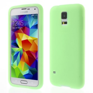 Green Rubberized Gel Silicone Case for Samsung Galaxy S5 G900 GS 5