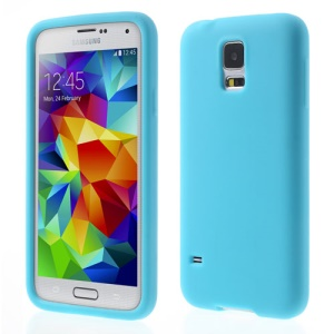 Baby Blue Rubberized Silicon Jelly Case for Samsung Galaxy S5 G900 GS 5