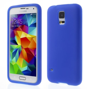 Dark Blue Rubberized Silicone Cover Case for Samsung Galaxy S5 G900 GS 5