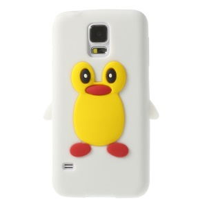 Adorable Penguin Silicone Skin Case for Samsung Galaxy S5 G900 GS 5 - White