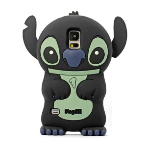 Deere Stogdill 3D Stitch Soft Silicone Case for Samsung Galaxy SV GS 5 G900 - Black