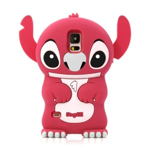 Deere Stogdill 3D Stitch Soft Silicone Shell for Samsung Galaxy SV GS 5 G900 - Rose