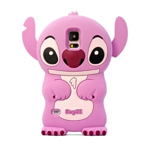 Deere Stogdill 3D Stitch for Samsung Galaxy SV GS 5 G900 Flex Silicone Shell - Pink