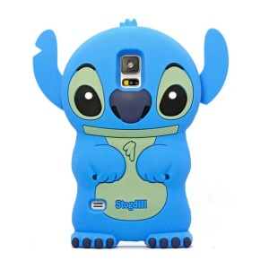 Deere Stogdill 3D Stitch for Samsung Galaxy SV GS 5 G900 Silicone Back Cover - Blue