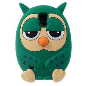 Lovely Owl Shape Candy Smell Silicone Case for Samsung Galaxy S5 G900 GS 5 - Green