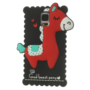 Black 3D God Beast Pony Soft Silicone Cover for Samsung Galaxy S5 GS 5 G900