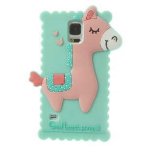 Cyan for Samsung Galaxy S5 G900 3D God Beast Pony Silicone Case