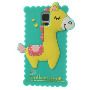 Green for Samsung Galaxy S 5 G900 3D God Beast Pony Silicone Back Case