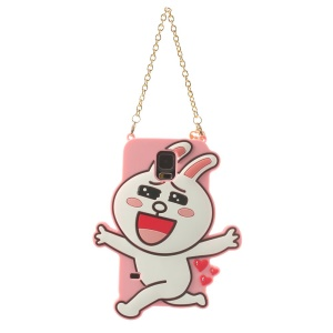 Cony Rabbit Silicon Case with Chain for Samsung Galaxy SV G900 - Pink