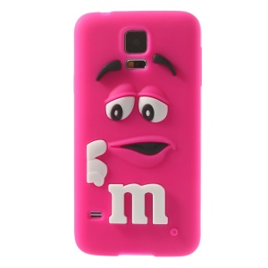 PIZU for Samsung Galaxy S5 G900 Laughing M&M Bean Candy Smell Silicone Cover - Rose