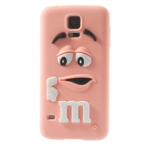 PIZU for Samsung Galaxy S5 G900 Laughing M&M Bean Candy Smell Silicone Cover - Pink