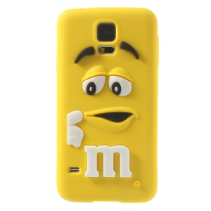 PIZU Laughing M&M Bean Candy Smell Silicone Case for Samsung Galaxy SV G900 - Yellow