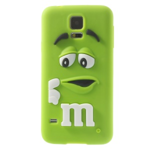 PIZU Laughing M&M Bean Candy Smell Silicone Case for Samsung Galaxy SV G900 - Green
