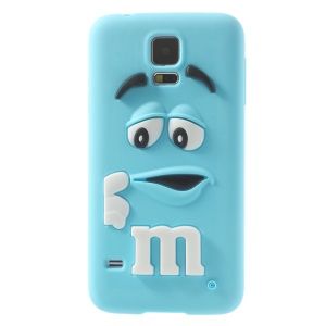 PIZU Laughing M&M Bean Candy Smell Silicone Case for Samsung Galaxy SV G900 - Blue