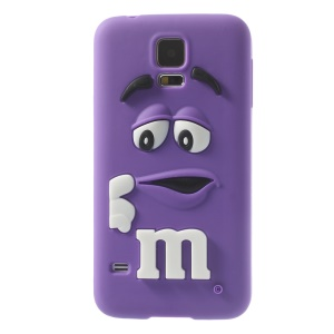PIZU Laughing M&M Bean Candy Smell Silicone Case for Samsung Galaxy SV G900 - Purple