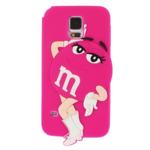 Ms.Green M&Ms Rainbow Chocolate Bean for Samsung Galaxy SV G900 Soft Silicone Shell - Rose
