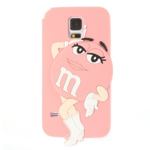 Ms.Green M&Ms Rainbow Chocolate Bean for Samsung Galaxy SV G900 Soft Silicone Case - Pink