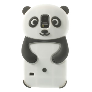 3D Cute Panda Silicone Jelly Case for Samsung Galaxy S5 G900 GS 5 - Black