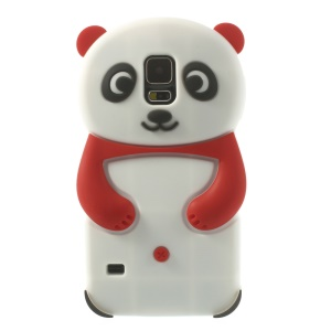 3D Cute Panda Silicone Cover Case for Samsung Galaxy S5 G900 GS 5 - Red