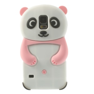 3D Cute Panda Soft Silicon Shell for Samsung Galaxy S5 G900 G900S - Pink