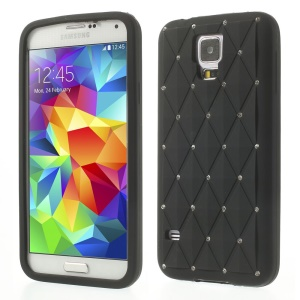 Black Starry Sky Rhinestone Silicone Case for Samsung Galaxy S5 G900