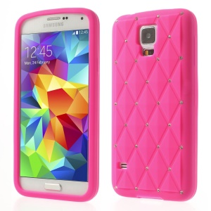 Rose Starry Sky Rhinestone Silicone Case for Samsung Galaxy S5 G900