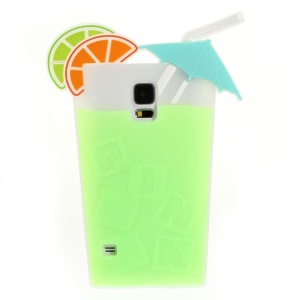Fruit Juice Design for Samsung Galaxy S5 G900 Soft Silicone Case - Green