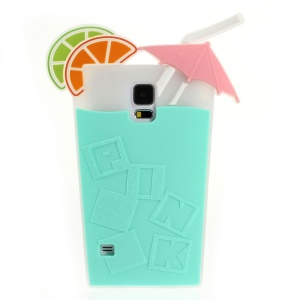 Fruit Juice Design for Samsung Galaxy S5 G900 Soft Silicone Cover - Cyan