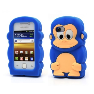 Dark Blue For Samsung Galaxy Y S5360 Silicone Case Fancy 3D Monkey Shaped