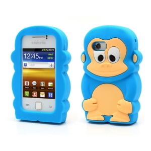Baby Blue For Samsung Galaxy Y S5360 3D Monkey Cute Silicone Cases