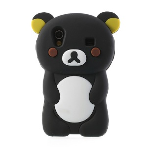 Black 3D Rilakkuma Bear Silicone Cover for Samsung Galaxy Ace S5830