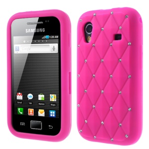 Rose for Samsung S5830 Galaxy Ace Sparkling Starry Sky Rhinestone Silicone Case
