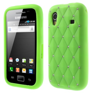 Green for Samsung S5830 Galaxy Ace Sparkling Starry Sky Rhinestone Silicone Case